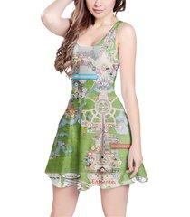 magic kingdom map disney sleeveless dress