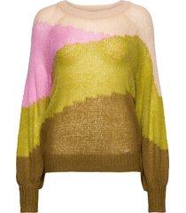 sweater w. horizon stripes stickad tröja multi/mönstrad coster copenhagen