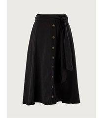 falda con botonadura y cinturón para mujer 10178
