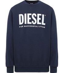 poleron diesel s gir division logo sweat shirt 81e azul
