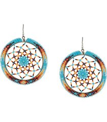 jessie western beaded drop earrings - blue