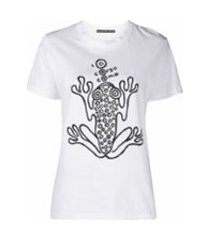 10 corso como camiseta mangas curtas com estampa de sapo - branco