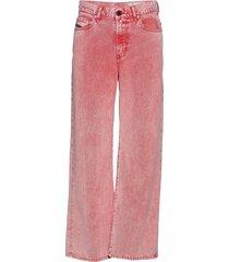 widee trousers wijde jeans roze diesel women