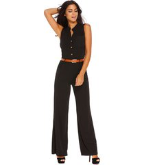 sexy women plus size belted wide leg women jumpsuit romper overalls trousers