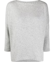 snobby sheep bracelet-sleeve loose fit sweater - grey