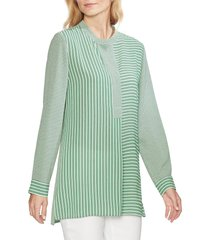 women's vince camuto linear motion print tunic, size small - green