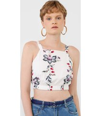regata cropped lez a lez ornamental branca