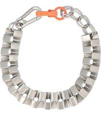 heron preston cubic necklace