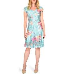 women's komarov floral crinkle dress