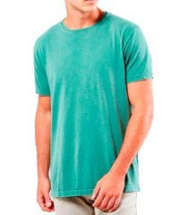 camiseta masculina algodão sandro clothing willy verde agua estonada
