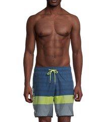 spyder men's volly colorblock swim shorts - blue - size xl