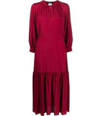 weekend max mara ruched tiered dress