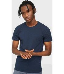 selected homme slhnewpima ss o-neck tee b 3 pack n t-shirts & linnen mörk blå