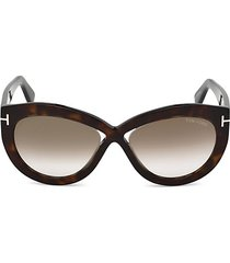 56mm diana mirrored butterfly sunglasses