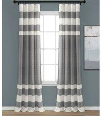"""cape cod stripe 40"""" x 95"""" curtain set"""