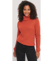 rut&circle tinelle-tröja med rullkrage - orange