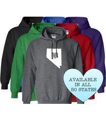 nevada hoodie sweatshirt love home heart unisex men women state