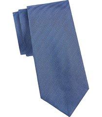 chevron-print silk tie