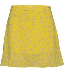 floral print flare skirt kort kjol gul calvin klein jeans