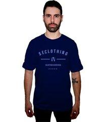 camiseta manga curta skate eterno bask cs azul marinho - kanui