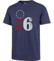 '47 brand philadelphia 76ers men's grit scrum t-shirt