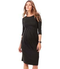women's isabella oliver ivybridge jersey maternity dress, size 3 - black