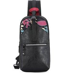 vintage impermeabile casual outdoor sling borsa petto borsa crossbody borsa per uomini donne