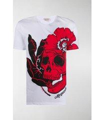 alexander mcqueen skull in bloom t-shirt