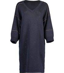 v-neck paillette sweater dress