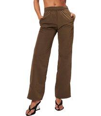 women's good american wide leg track pants
