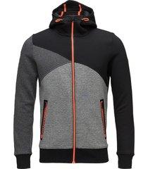 gym tech spliced ziphood outerwear sport jackets fleeces & midlayers svart superdry sport