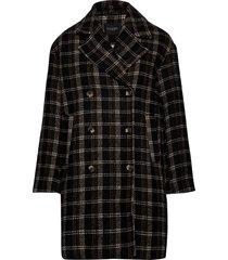 slcheekie coat wollen jas lange jas zwart soaked in luxury