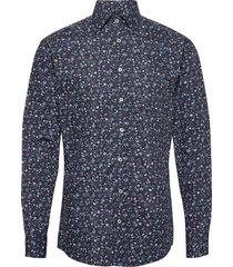 flower prints skjorta casual blå bosweel shirts est. 1937