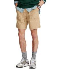 polo ralph lauren men's 8-inch relaxed fit stretch poplin shorts