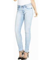 calça sideral skinny sky bleach jeans