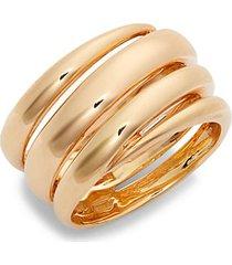 18k rose gold & ruby coil ring
