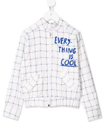 raspberry plum chill logo-print jacket - white
