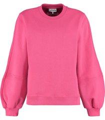 ganni long sleeve sweatshirt