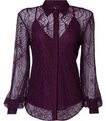 camisa barbara det renda (aubergine, 50)