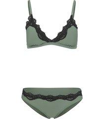 bikini a triangolo (set 2 pezzi) (verde) - bodyflirt