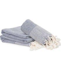 linum home textiles turkish cotton fun in paradise pestemal beach and hand towel 2-piece set bedding
