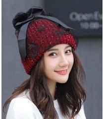 berretto di lana per donna berretto caldo di lana berretto di garza di maglia cappuccio versatile versatile cappello per lo shopping all'aperto casual