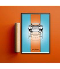 plakat motoryzacja - porsche 911 turbo