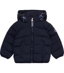 d1. lock-up stripe puffer jacket gevoerd jack blauw gant