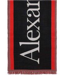 alexander mcqueen selvedge oversized scarf