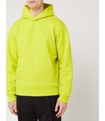 acne studios men's classic fit hooded sweatshirt - sharp yellow - xl