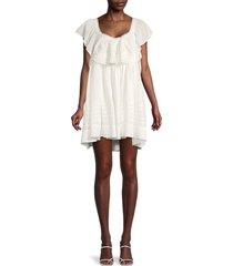 free people women's hailey ruffled mini dress - ivory - size l