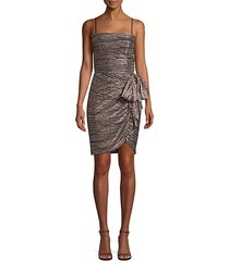 bellagio metallic draped mini dress