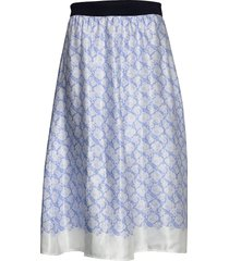 biella knälång kjol blå by malene birger