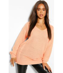 oversized cable knit sweater, apricot